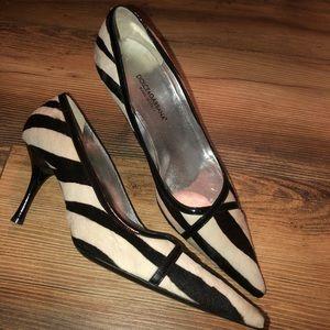Dolce & Gabbana   pointed toe zebra print heels